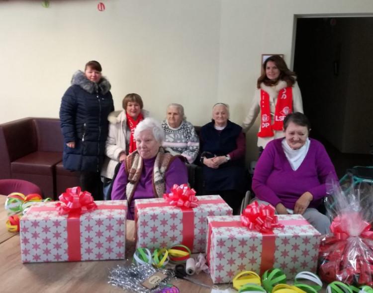 Širvintų parapijos globos namuose aplankyti senoliai