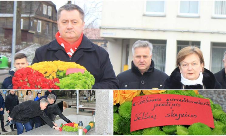 Telšių socialdemokratai minėjo Sausio 13-ąją – Lietuvos laisvės gynėjų dieną