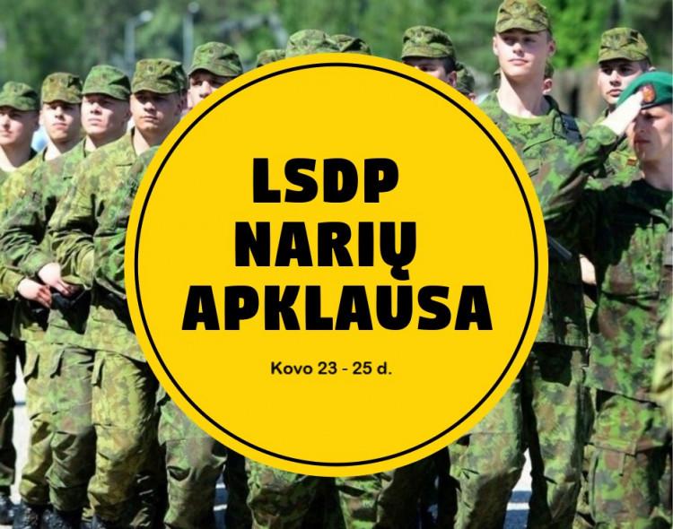 Bus vykdoma visuotinė LSDP narių apklausa gynybos politikos klausimais