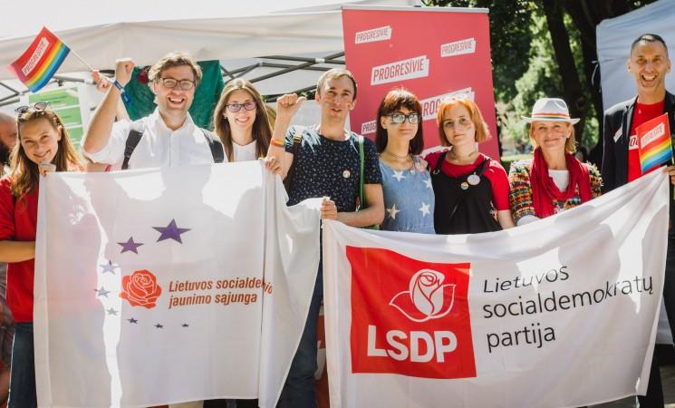 Socialdemokratai reiškia paramą LGBT bendruomenei