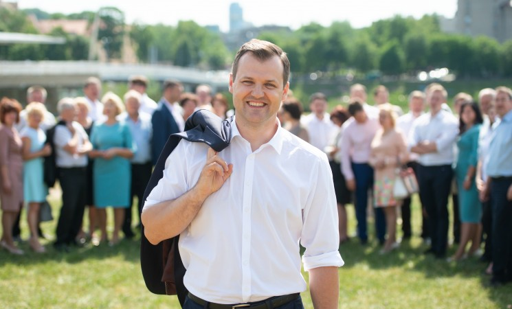 LSDP kandidatas į Vilniaus merus G. Paluckas: nuleisime merą iš dangoraižio