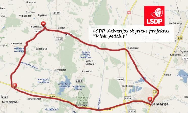 """LSDP Kalvarijos sk. projektas """"Mink pedalus"""""""