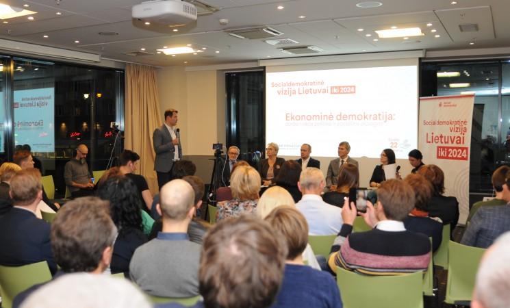 Socialdemokratinė vizija Lietuvai: įtraukianti ekonomika, teisingas visų pajamų apmokestinimas
