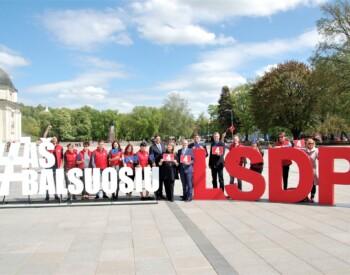 EP rinkimų agitacija Vilniuje