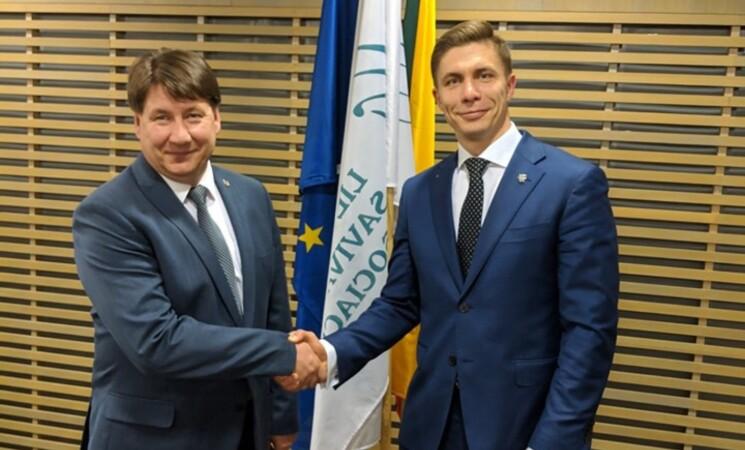 Lietuvos savivaldybių asociacijos prezidentu išrinktas socialdemokratas M. Sinkevičius