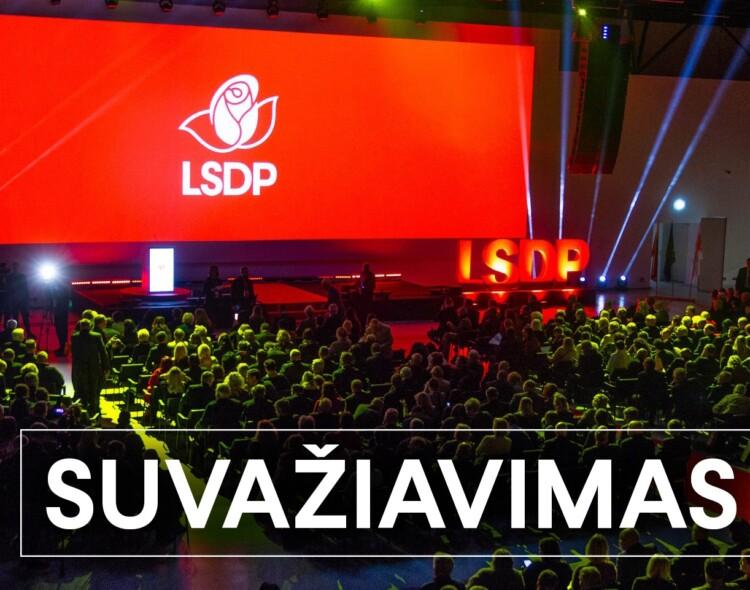 Šeštadienį – Lietuvos socialdemokratų partijos suvažiavimas