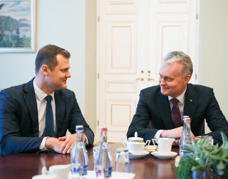 G. Paluckas susitiko su G. Nausėda: radome daug bendrų tikslų