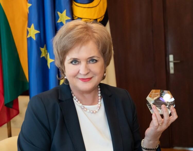 Socialdemokratės N. Dirginčienės vadovaujamai savivaldybei – prestižinis apdovanojimas