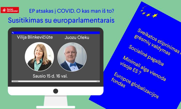 EP atsakas į koronaviruso pandemiją. Susitikimas su europarlamentarais.