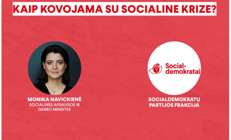 Smurtas, moterų padėtis, sidabrinė ekonomika – Seimo socialdemokratai gilino pažintį su ministre M. Navickiene