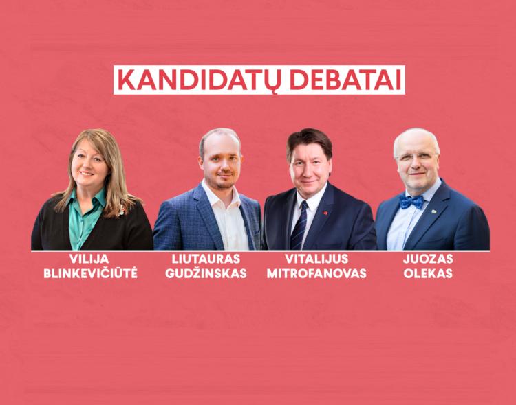Kandidatų į LSDP pirmininkus debatai - nukeliami