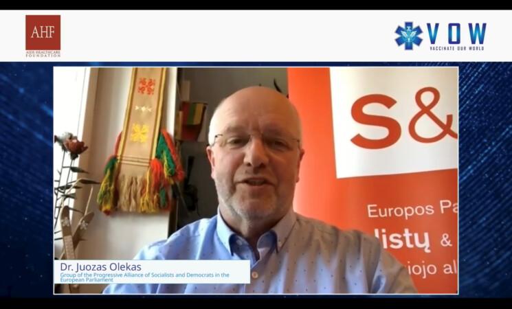 J. Olekas tarptautinėje spaudos konferencijoje: nebegalime toleruoti vakcinų gamintojų godumo