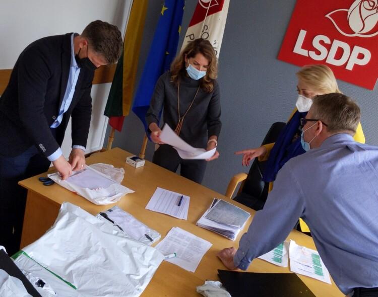 Socialdemokratai patvirtino partijos pirmininko rinkimų rezultatus