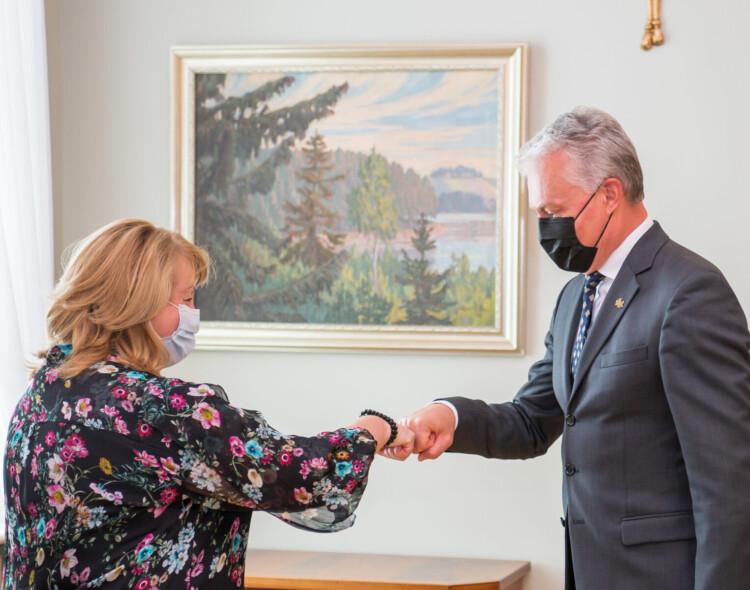 V.Blinkevičiūtė – po susitikimo su prezidentu: kylant kainoms valstybė turėtų sparčiau didinti pensijas, vaiko pinigus